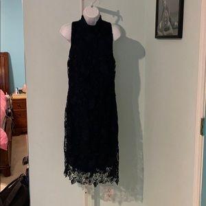 Ralph Lauren Size 14 Navy Lace Dress below knee